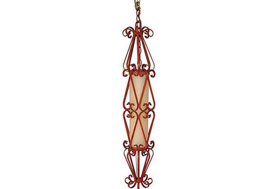 1960s Wrought Iron Pendant Light