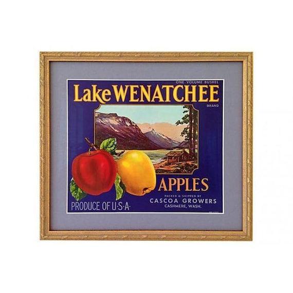 Framed 1940s Apple Crate Label