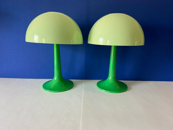 1960s Modern Mushroom Lamps - Pair
