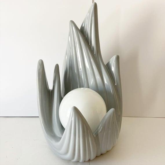 Art Deco Flames Lamp by Harris