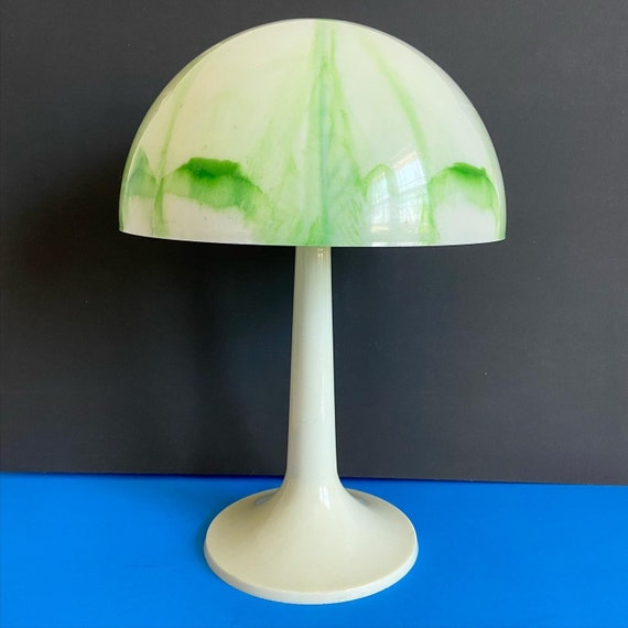 1960s Marbled Mushroom Lamp