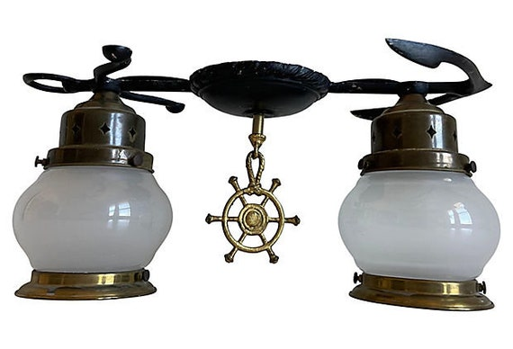 1950s Maritime Anchor Flush Light