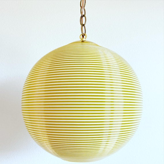 1960s Rotaflex Globe Pendant Light