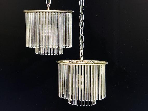 Sciolari Pendant Lights by Lightolier, Pair