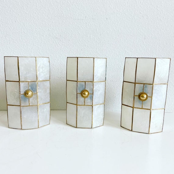 Capiz Shell Wall Lights - Set of 3