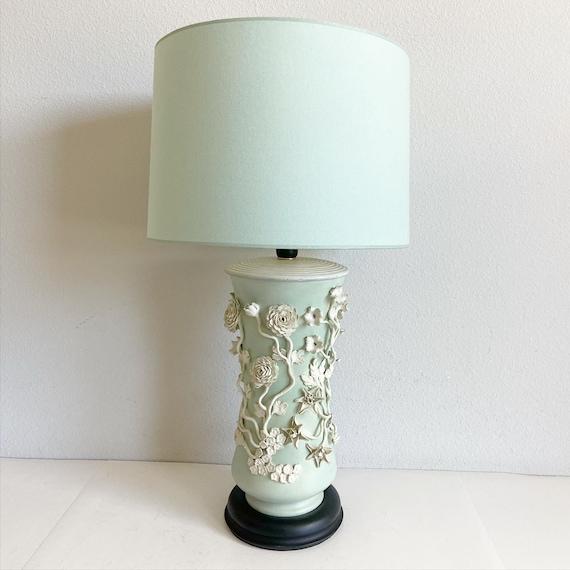 1950s Oversize Italian Lamp & Shade