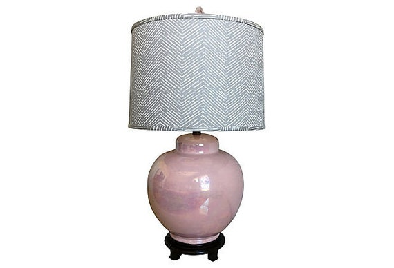 Oversize Ceramic Jar Lamp & Shade