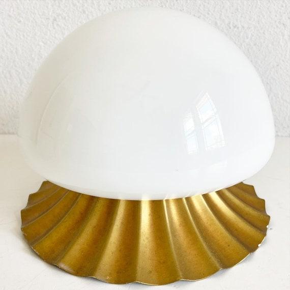 Midcentury Shell Flush Light