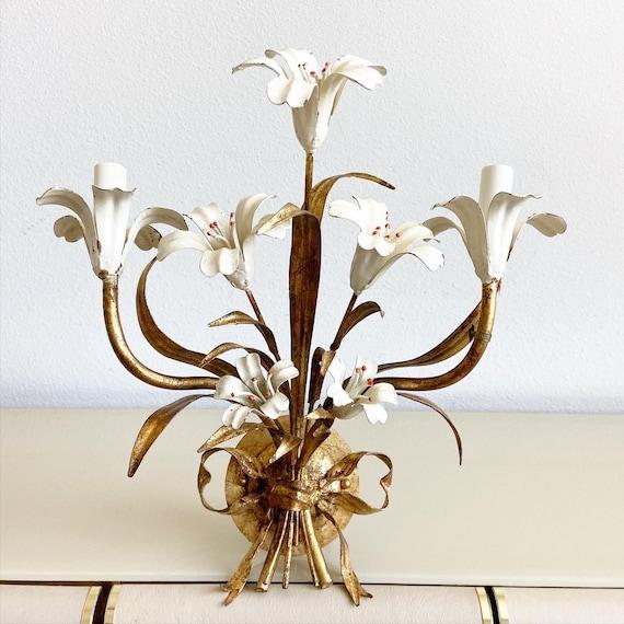 Mid-Century Italian Lilies Sconce