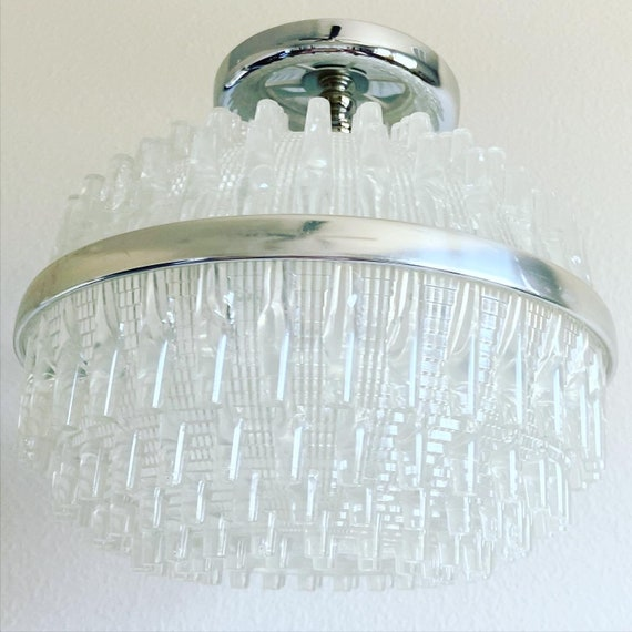 English Lucite Flush Light