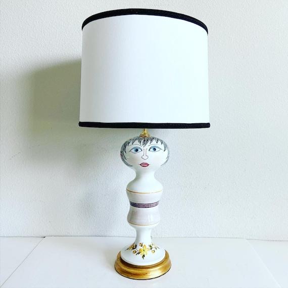 Italian Figural Lamp & Shade