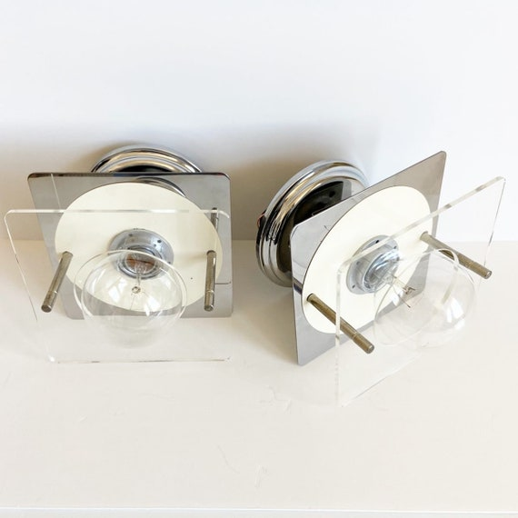1960s Modern French Wall Lights - a Pair