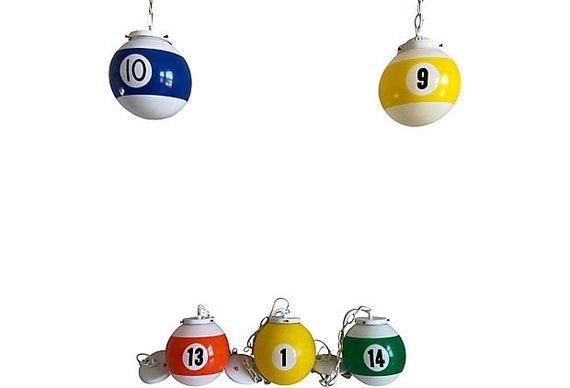 1960s Pool Ball Lights - Set of 5