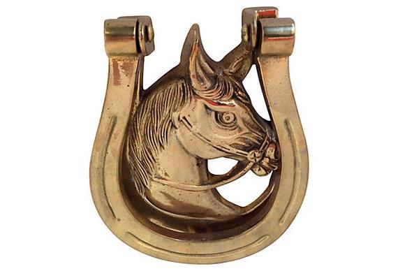 1960s Horse Head Door Knocker