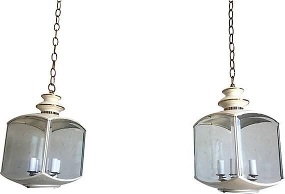 Chinoiserie Pavilion Lanterns - a Pair