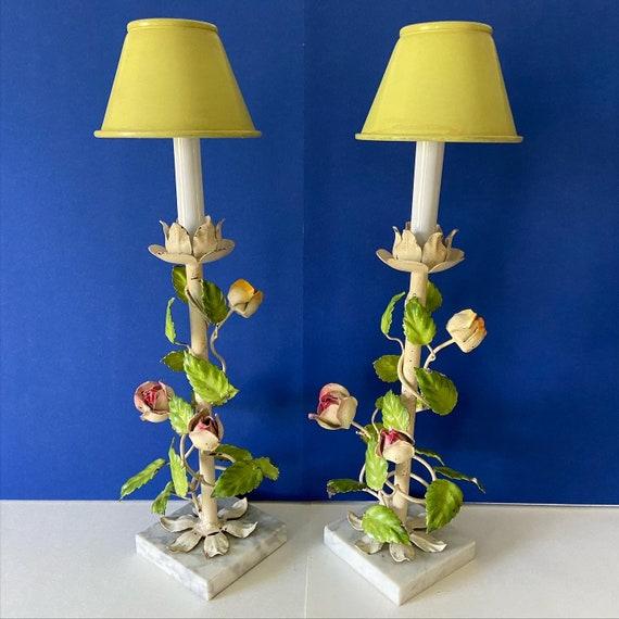 Italian Climbing Roses Lamps & Shades - a Pair