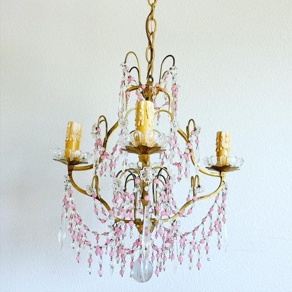 Midcentury French Crystal Chandelier