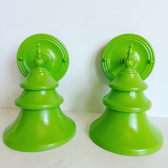 Midcentury Tiered Wall Lights - a Pair