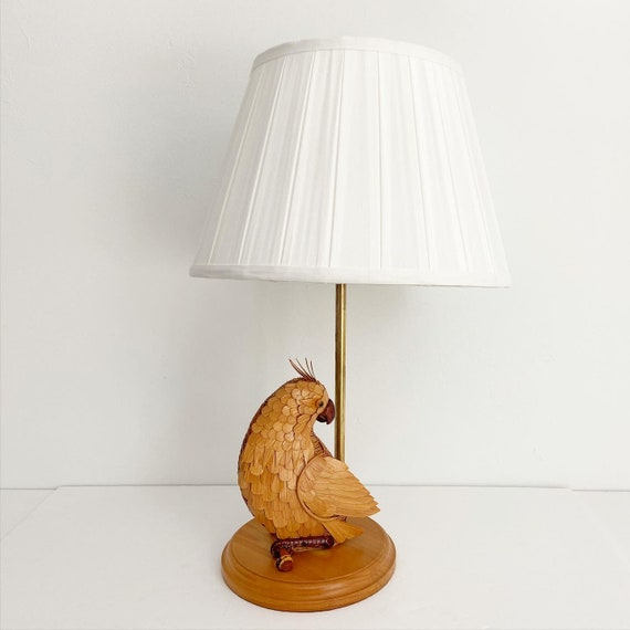 Wicker Cockatoo Lamp & Shade
