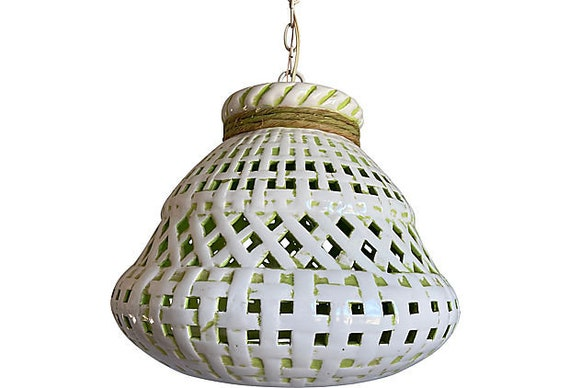 Midcentury Italian Lattice Light