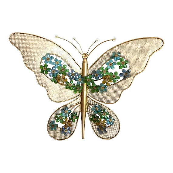 1950s Oversize Italian Butterfly Wall Light