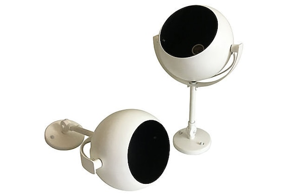 Mid-Century Eyeball Lights by Kurt Versen - a Pair