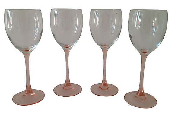 French Crystal Stems, Set of 4