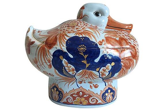 1950s Italian Duck Tureen