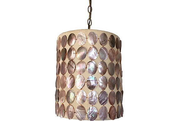 1960s Abalone Shell Pendant Light