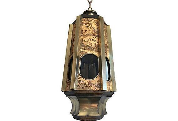 1960s Modern Organic Lantern