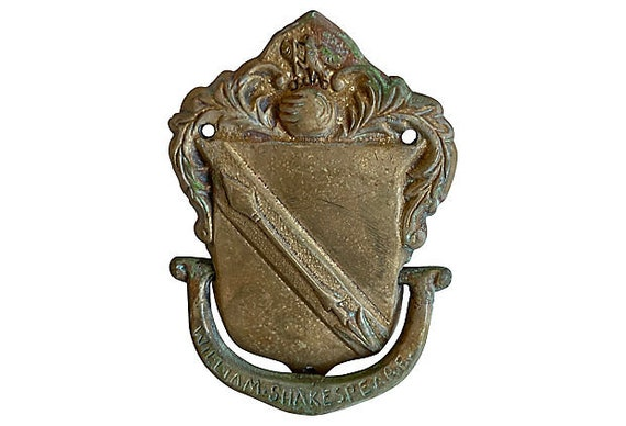 1950s Heraldry Door Knocker
