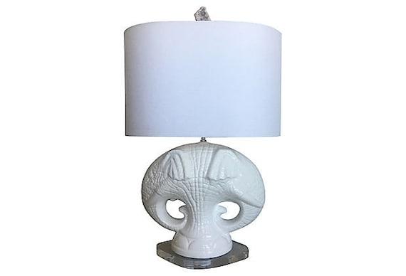 Italian Double Elephants Lamp & Shade