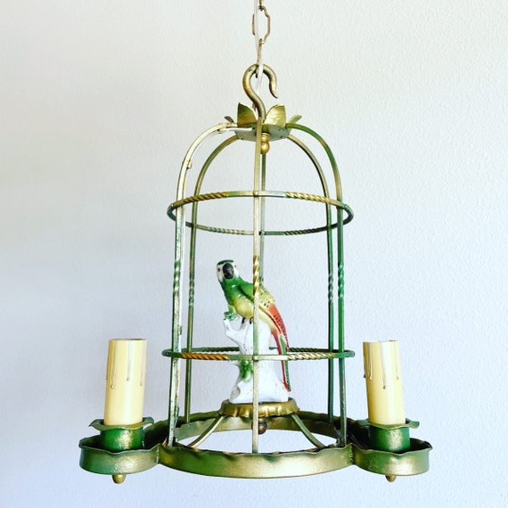 Antique Parrot Birdcage Chandelier