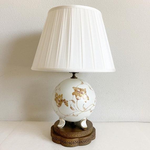 1940s Rosenthal Ball Lamp & Shade