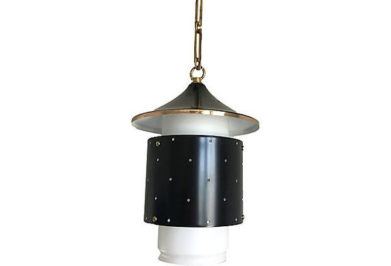 Midcentury Artolier Pagoda-Style Pendant Light