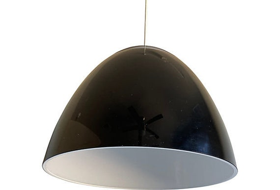 Oversize Italian Lucite Dome Light