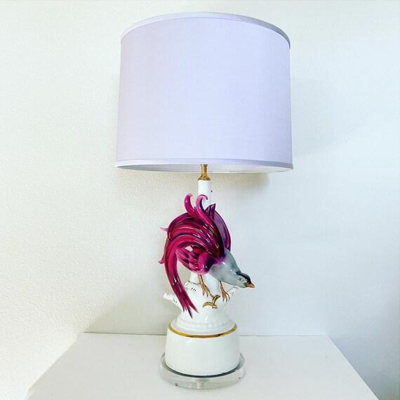 1950s Bird of Paradise Lamp & Shade