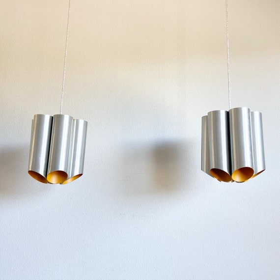 1960s Danish Modern Cylinder Lights - a Pair