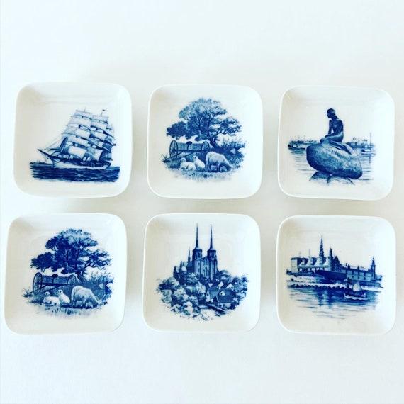 Royal Copenhagen Butter Pats - Set of 6