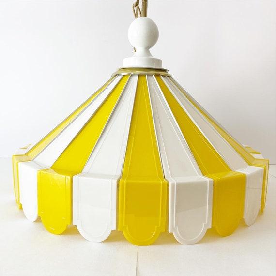 1970s Tented Pendant Chandelier