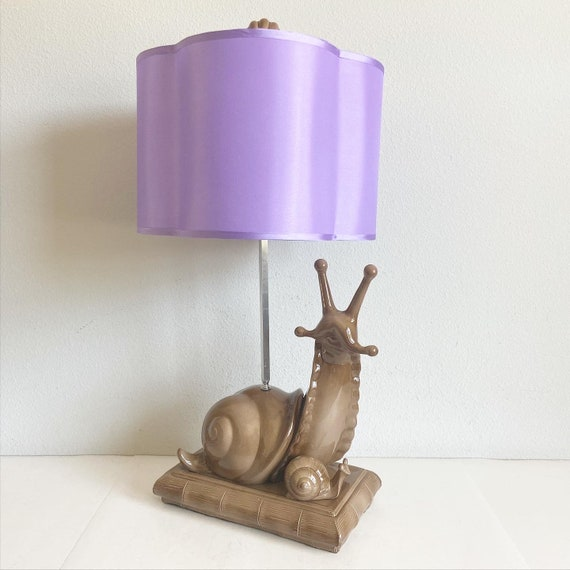 Midcentury Giant Snail Lamp & Shade