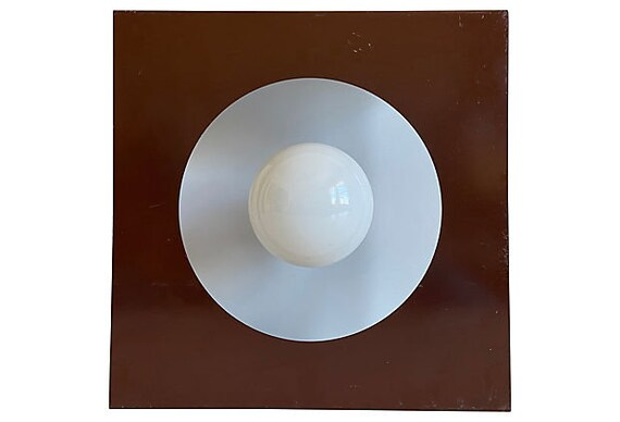 1970s Geometric Steel Light