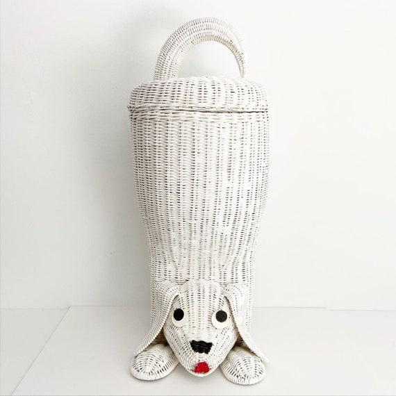 1970s Wicker Dog Basket