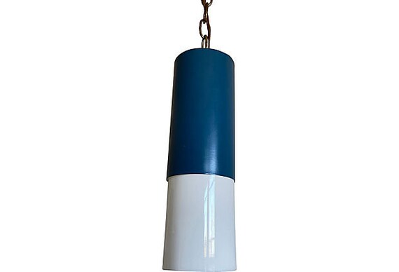 1960s Modern Two-Tone Pendant Light