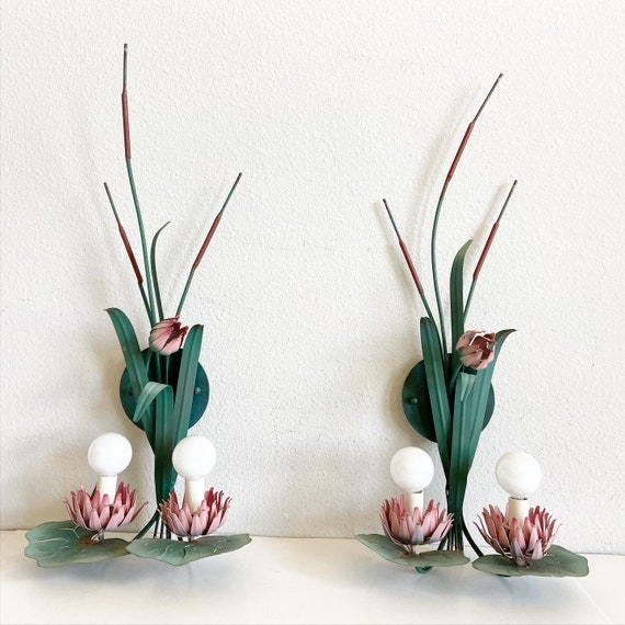1950s Lily Pad Sconces - a Pair