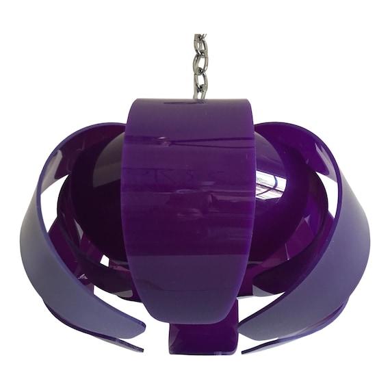 Mid-Century Lucite Lotus  Pendant Light
