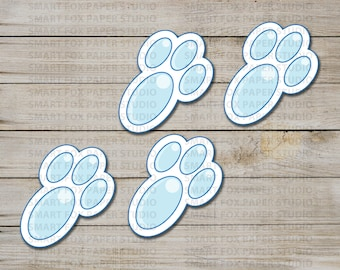 Easter Bunny Foot Prints