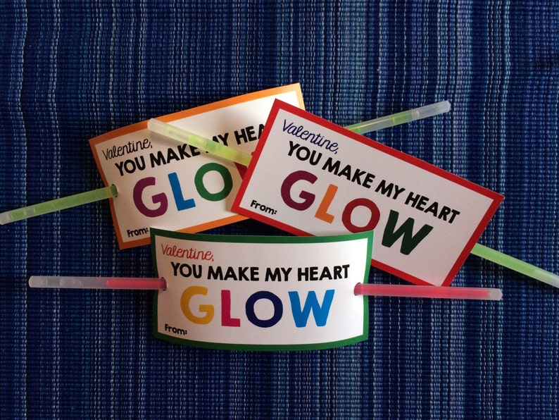 photograph about You Make My Heart Glow Printable called By yourself Generate My Middle Shine Valentine - Quick Down load - Valentines Working day Electronic Printable - Electronic Valentines - Children Valentines - Shine Adhere