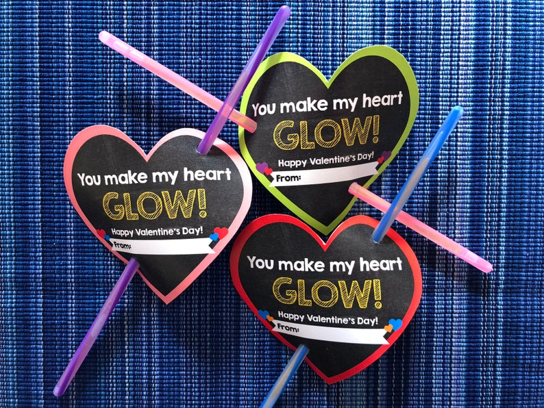 photo relating to You Make My Heart Glow Printable identified as On your own Deliver My Center Shine Valentine - Immediate Obtain - Valentines Working day Electronic Printable - Electronic Valentines - Children Valentines - Shine Adhere