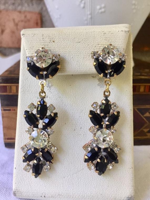 Beautiful   vintage austrian glass  earrings - image 2